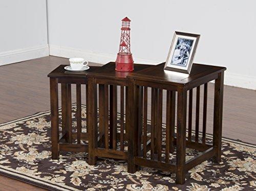 (Sunny Designs 2123DC-2 Santa Fe 3 Piece Nesting Table)