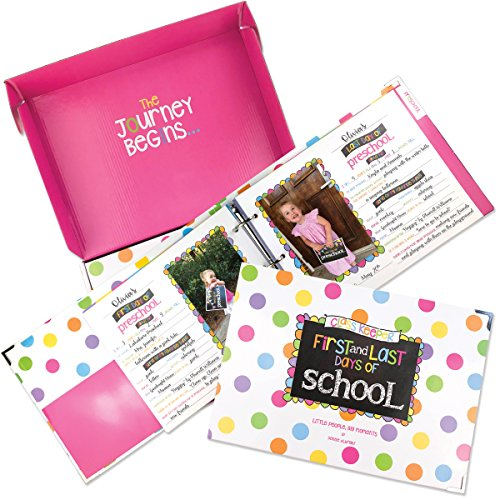 School Memory Book Keepsake Album, Scrapbook for Kids Memories Preschool to College, with Pocket for Every Grade, Class Photos, School Pictures