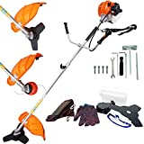 ECO LLC Two-Stroke Gas Powered Straight Shaft String Trimmer/Grass Shears/Powerful Weedeater/Mini-Mower/Brush Cutter Combo