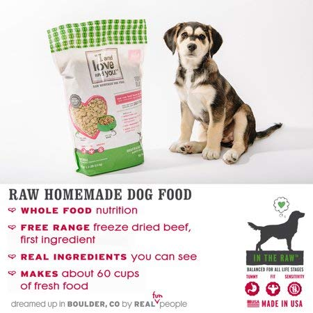 I and love and you in The Raw Dehydrated Dog Food, Grain-Free Raw Raw Beef Boom Ba Dinner, 5.5 Lb (F02100)