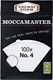 Technivorm Moccamaster 85022 Moccamaster #4 Paper Filters, White