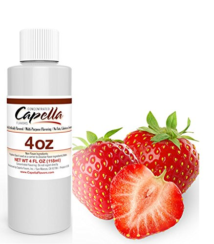 Capella Flavor Drops Sweet Strawberry 4 oz Concentrate (Best Strawberry Shortcake E Liquid)
