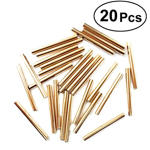 (SUPVOX 20PCS Tube Spacer Tubes Solid Brass Spacer Beads for DIY Jewelry Making 30MM)