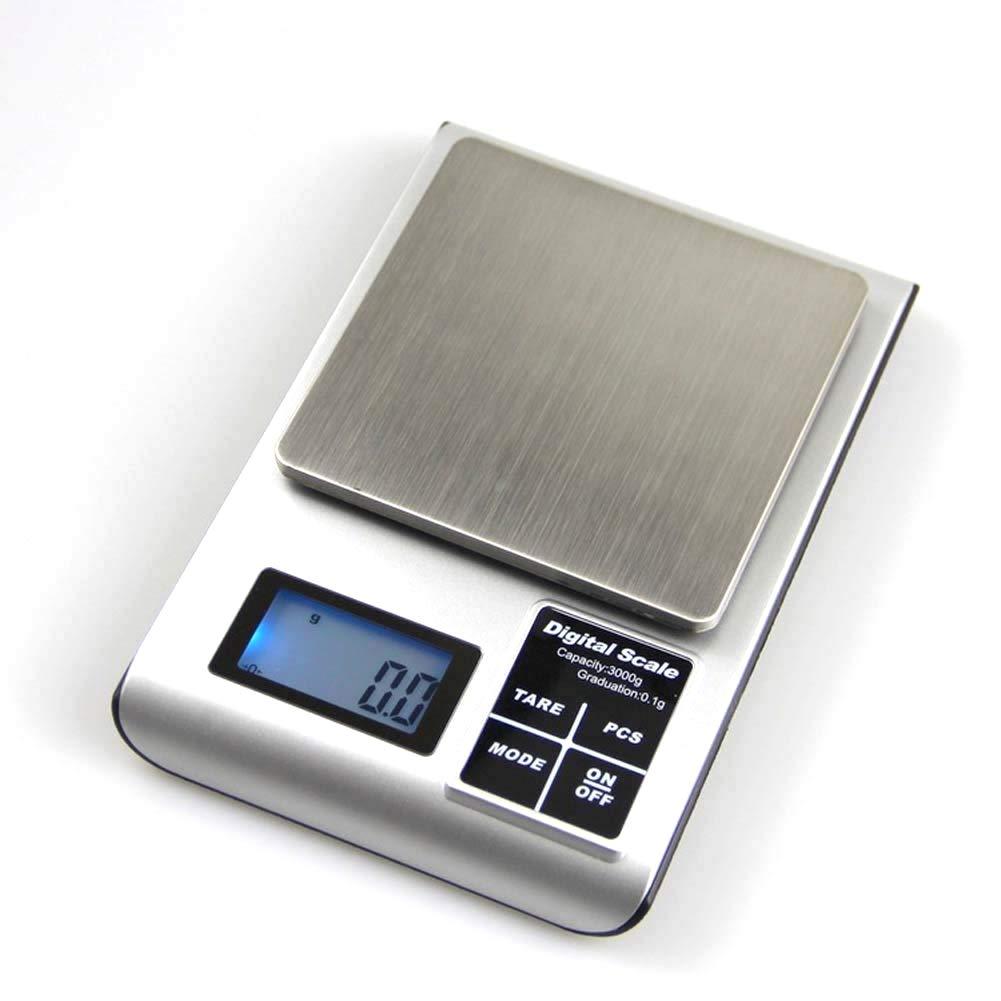 Digital-Küchen-Skala, Wiegende Nahrungsmittelskala Für Haus -200G-1KG,1Kg [Energieklasse A] Digital-Küchen-Skala homesave