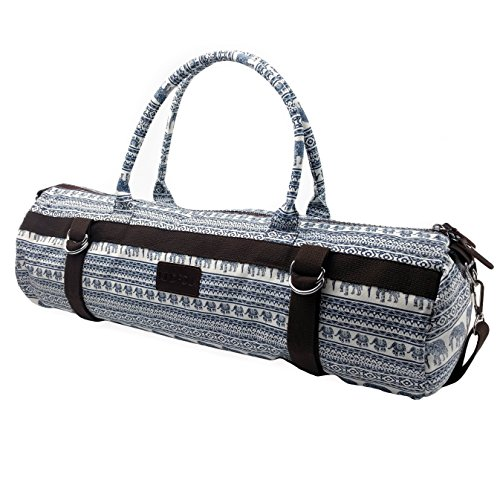 Yoga Mat Bags Carrier Patterned Canvas with Pocket and Zipper (Jubilee)