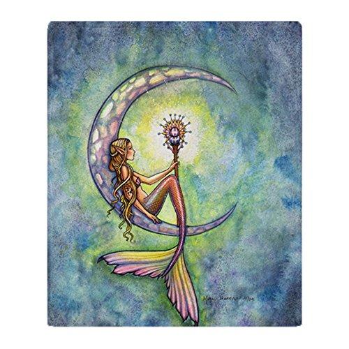 CafePress Mermaid Moon 9 X 12 Cp Soft Fleece Throw Blanket, 50