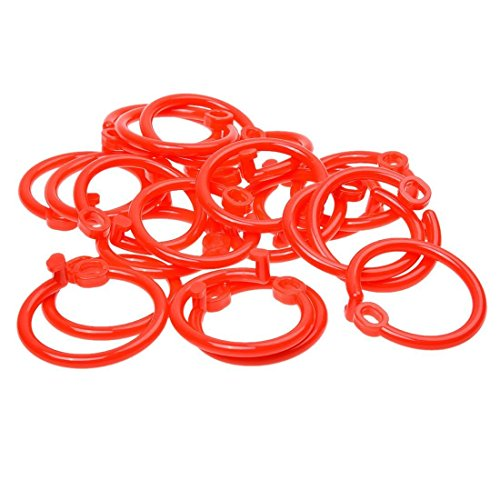 SODIAL(R) 20pcs Diameter Scrapbook Book Ring - Red