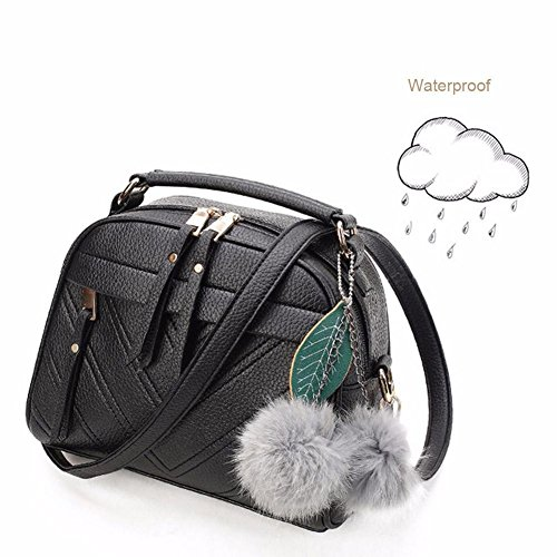 Black Women Shoulder Bag Handbag Bag Widewing Sling Messenger Satchel PU Leather 1pZdwv