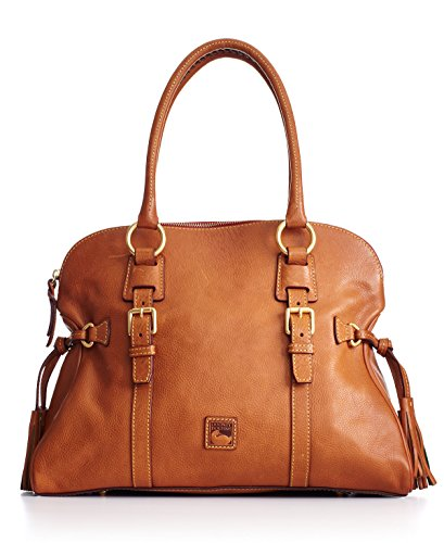 Dooney & Bourke Florentine Domed Buckle Satchel Natural (Domed Tassel)