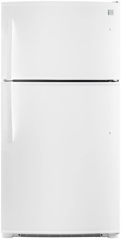Kenmore 71212 21 cu.ft. Top-Freezer Refrigerator with Ice Maker and LED Lighting in White, includes delivery and hookup