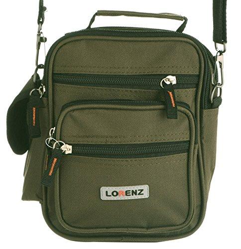 Bolso Verde Negro negro de mujer hombro Sintético Material Verde al Lorenz para 1axq6d1