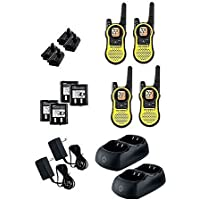 Motorola Talkabout 2-Way Radio with 22 Channels and Range of up to 23 miles also features 121 Privacy Codes and 2662 Combinations - 4 Pack