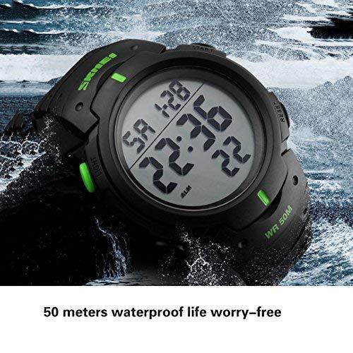 GPWDSN smarta sportklockor för män, avslappnad klocka, modedesign utomhus sport vattentät elektronisk klocka multifunktion digital led wa