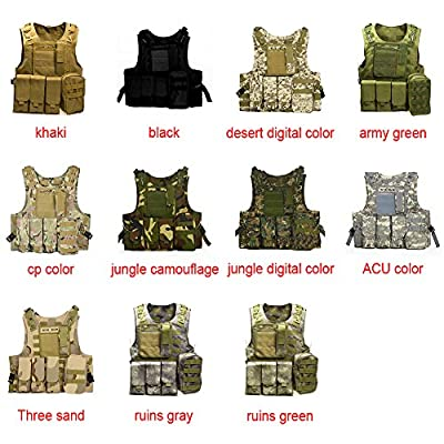YOEDAF Tactical Vest Hunting Military Molle Security Guard Waistcoat Airsoft Swat Field Battle Combat Assault Protective