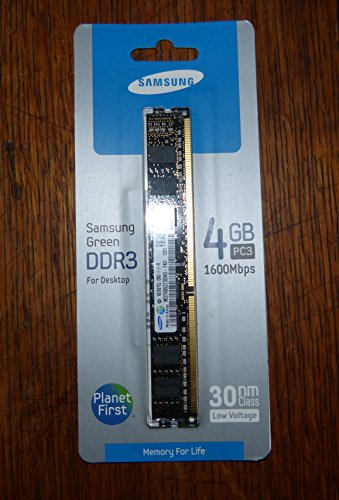 Samsung Electronics Extreme Low Voltage 30nm UDIMM 4 Not a kit (Single) DDR3 1600 (PC3 12800) 240-Pin DDR3 SDRAM MV-3V4G3/US