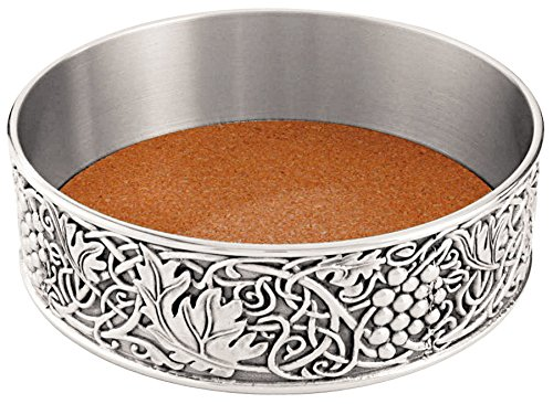 Royal Selangor 014524R William Morris Bottle Coaster, 4.7'' x 1.3'', Pewter by Royal Selangor (Image #1)
