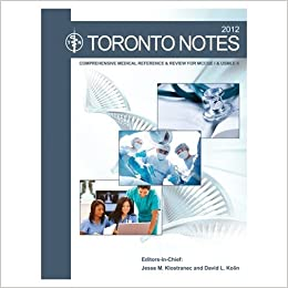 Toronto notes comprehensive medical refrence clinical handbook and turn on 1 click ordering for this browser fandeluxe Images