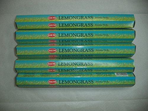 HEM Lemongrass 100 Incense Sticks (5 x 20 stick packs)
