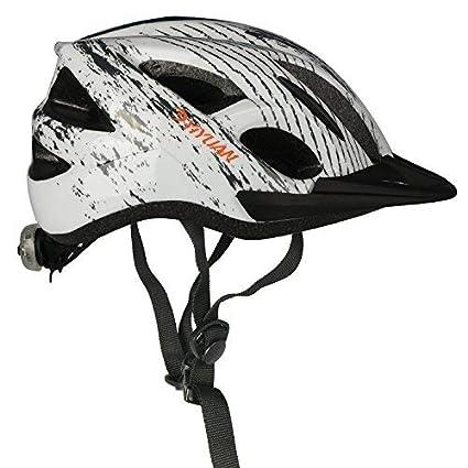 Yiyuan Casco de Ciclo Seguridad de Montar en Bicicleta con luz Trasera y Visera