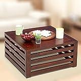Ikiriya Classic CTW08 Solid Wood Coffee Table (Walnut) For Living Room