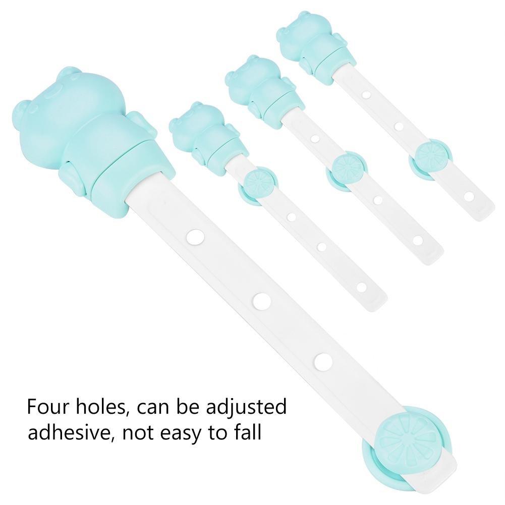 6 pcs Child Safety Locks Adjustable Adhesive Baby Safety Door Cupboard Drawer Cupboard(Green) by Yosoo- (Image #5)