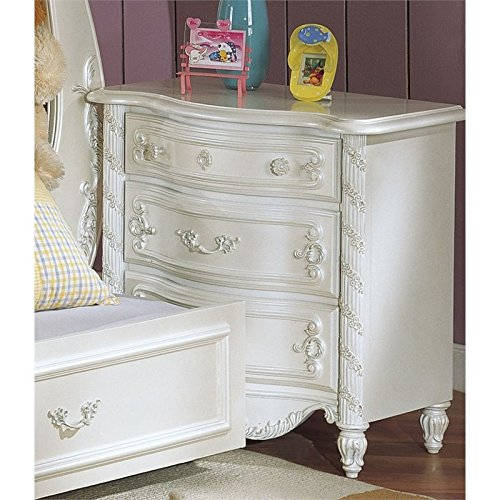ACME 01010T Sleigh Bed, Twin, Pearl White Finish (Sleigh Pearl)