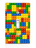 Colorful Bricks Design Print Image Light Switch Plate by Trendy Accessories