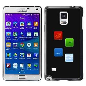 Caucho caso de Shell duro de la cubierta de accesorios de protección BY RAYDREAMMM - Samsung Galaxy Note 4 SM-N910F SM-N910K SM-N910C SM-N910W8 SM-N910U SM-N910 - Fire Earth Water Air Elements Of Life