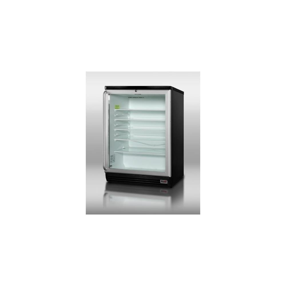 Summit SCR600BLPUBSH Beverage Refrigeration, Glass/Black