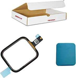 MD0410 Screen Repair Part Compatible for Apple Watch Series 4 (40mm) Model A1975 A1977 A2007 - Front Outer Glass Lens with Touch Digitizer Flex Cable Replacement