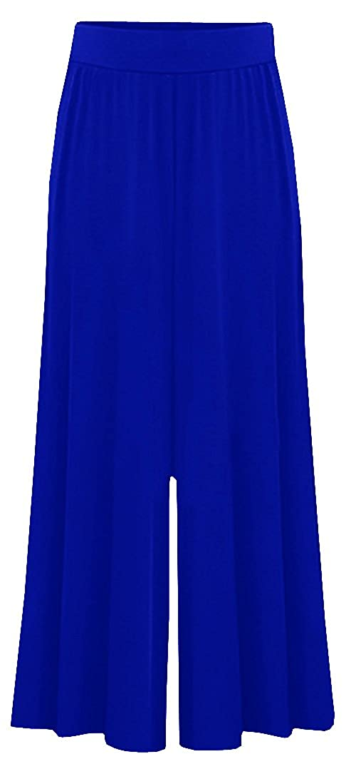 Dellytop Womens Loose Palazzo Trousers Wide Leg Pants Plus Size