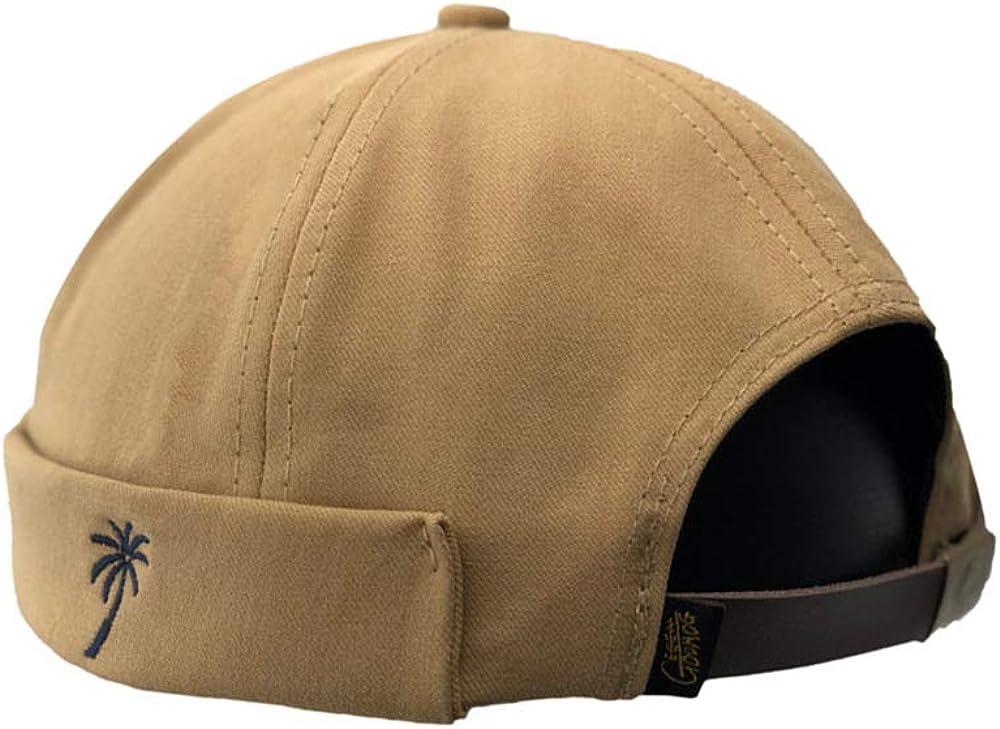 Unisex Docker Brimless Hats Beanie Skullcap Worker Sailor Cap Retro Rolled Cuff Skull Caps with Adjustable