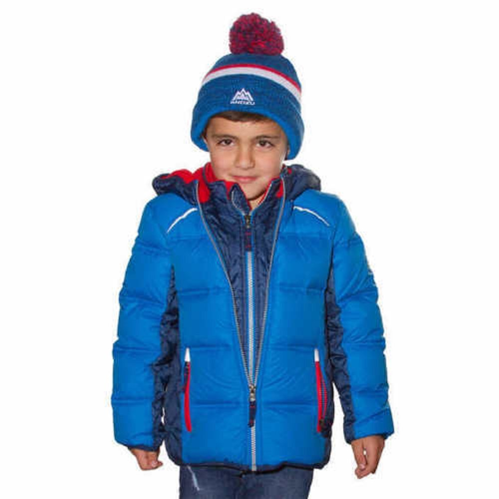 snozu Jacket With Beanie Hat (Blue, 2T)