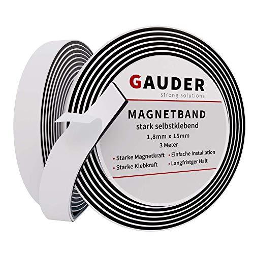 GAUDER Cinta Magnetica Autoadhesiva | Banda Imantada con Extra Fuerte Adhesivo | Tira de Iman