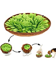 Snuffle Mat for Dogs Sniffing Feeding Mat,Dog Snuffle Mat Slow Feeding Bowl Dog Anti-Slip Nose Work Spliced Training Mat Encourages Natural Foraging Skills,Stress Release (Green)