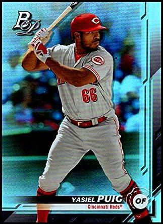 online retailer 2990c e5100 Amazon.com: 2019 Bowman Platinum Baseball #81 Yasiel Puig ...