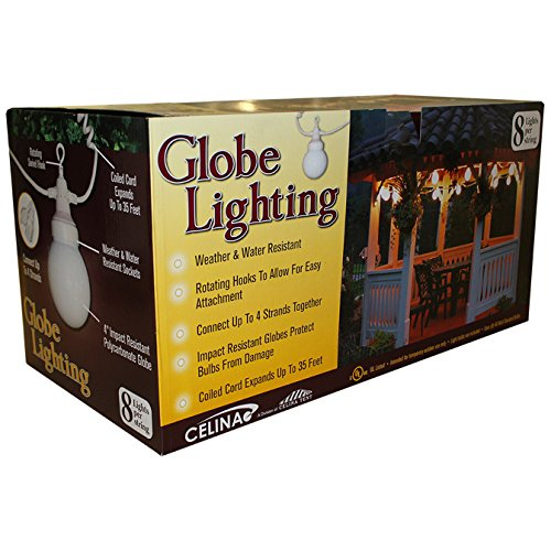 Globe Lighting for Party Event Tent, 25' Strand, Great for Wedding Tent, Graduation Tent