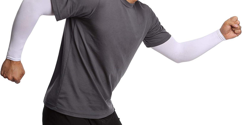 MUXININ Braccio Manica UV Protezione Raffreddamento Pressione Raffreddamento Lungo Braccio Gruppo per Esterno attivit/à Guida 1 Coppia Bianco