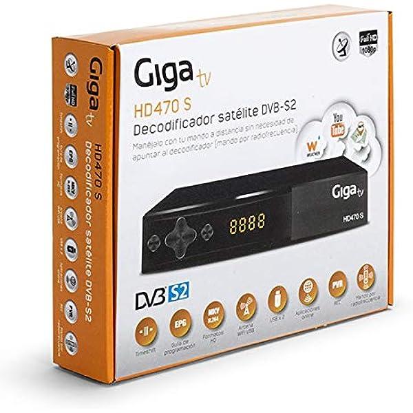 GIGATV Sintonizador HD470 S - Sintonizador satélite DVB-S2 ...