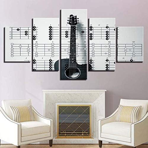 CYYCY 5 Instrumentos de Guitarra Minimalistas Modernos Pintura ...