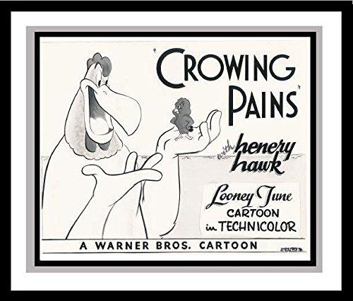 Foghorn Leghorn and Henery Hawk in 'Crowing Pains' Studio Lobby Card Publicity Still Warner Bros.