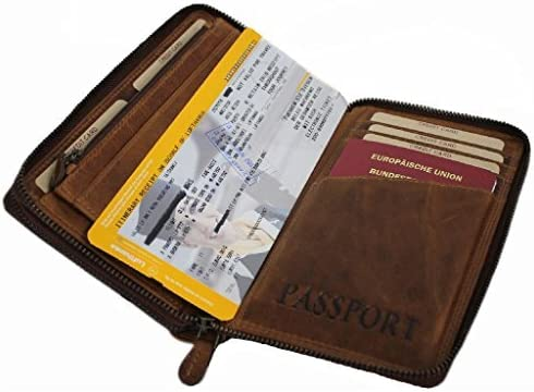 b796fa48a7ed Hill Burry Travel Wallet For Men Women Organizer Purse Bifold ID ...