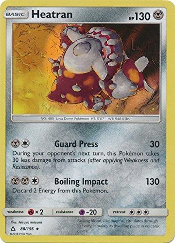 Heatran - 88/156 - Holo Rare - Sun & Moon: Ultra Prism (Heatran Pokemon Card)