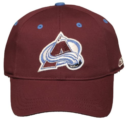 Reebok Embroidered Cap (New! Colorado Avalanche Curved Bill Stretch-Fit Hat 3D Embroidered Cap Youth (8-20))