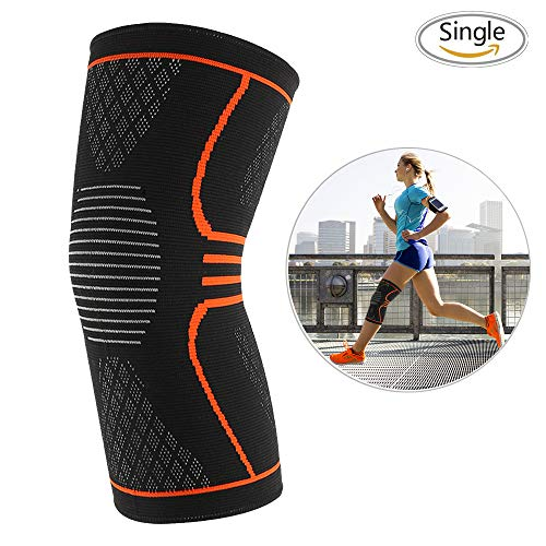 3D Knee Brace Knee Compression Sleeves,Soft Knee Pads Arthritis Knee Brace Athletic Padding Supplies Knee Sleeve Knee Cap for ACL,Pain Relief, Injury Recovery, Basketball and More Sports-Single ()