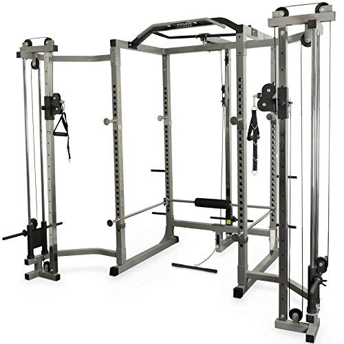 - Valor Fitness BD-11BCCL Hard Power Rack Cable Crossover & LAT Pull Attachments