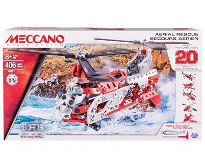 ELICOTTERO SOCCORSO AERIAL RESCUE HELICOPTER 20 IN 1 PZ.406 - Meccano - Kit Art.Vari - Kit di Montaggio