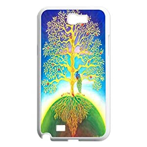 Painting - Tree of Life - Lucky faith Durable phone Case Cover for Samsung Galaxy Note 2 N7100 XRF024336