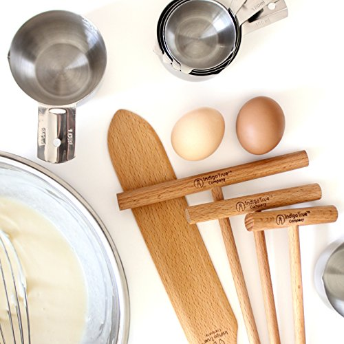 "The ORIGINAL Crepe Spreader and Spatula Kit - 2 Piece Set (7"" Spreader and 14"" Spatula) Convenient Size to Fit Large Crepe Pan Maker 