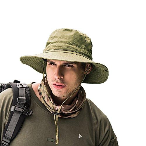 自信があるその間開発するUmetoo 紫外線 日焼け防止 サファリハットUVカット つば広 軽量 帽子 通気 日除け ハット 折りたたみ ひも付き フィッシング アウトドア作業 ユニセックス